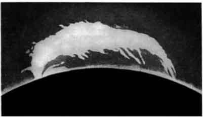 Протуберанец, напоминающий »о форме муравьеда.
