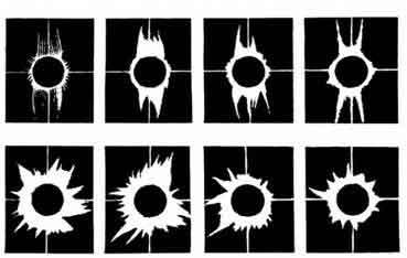 Форма солнечной короны в различные фазы солнечной активности.