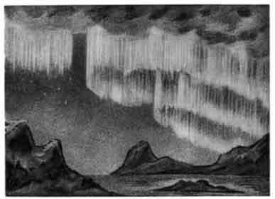 Шарообразное полярное сияние.